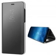 Samsung Galaxy A8 (2018) Luxury Mirror View Flip Case - Black