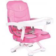 Детско столче за хранене, повдигащо се - Kiwi, Cangaroo, розово, 356101