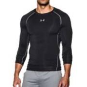 Under Armour HeatGear Compressie shirt - Heren met lange mouwen (Zwart)