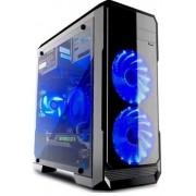 Kućište Rhino Han Solo Black Window,Blue LED fan
