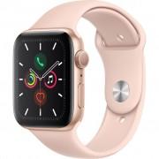 Ceas Smartwatch Apple Watch Series 5, GPS + Cellular, 44mm Gold Aluminium Case, Pink Sand Sport Band
