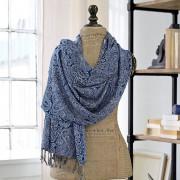 LOBERON Sjaal Basari / blauw