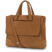 Tod's New Shopping Gommini Messenger Bag Light Brown Suede