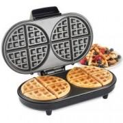 Aparat waffle VonShef Dual Round Waffle Maker 2013308, 2 Felii Mari Rotunde, 1200 W, Control Temperatura Automat