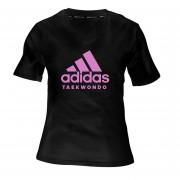 Camiseta Taekwondo Mujer Negro / Rosa adidas