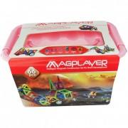Joc de constructie magnetic 66 piese Magplayer