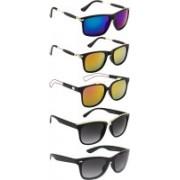 NuVew Wayfarer Sunglasses(Black, Blue, Grey, Golden, Green, Green, Orange)