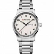 Wenger Avenue Reloj de cuarzo acero inoxidable off-white-silver