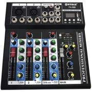 Mixer audio digital profesional fara amplificare cu 4 canale si Bluetooth WVNGR F4-MB