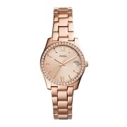 Fossil Ladies Scarlette Rose Gold Case Stone Set Dial Model ES4318