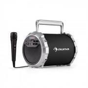 Auna DR. BANG!, Черен, 2.1 Bluetooth високоговорител, USB, SD, AUX, батерии, микрофон (CS6-Dr. Bang! BK)