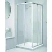 Douche Concurrent Douchecabine Sealskin Get Wet 110 Vierkant 2 Delig 70x70x190cm Mat Zilver Druppel Kunststofglas
