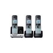 Telefone s/ fio Dect 6.0 c/ identificador de chamadas + 2 Ramais KXTG6713LB Panasonic