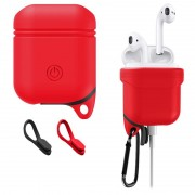 Apple AirPods / AirPods 2 Premium Water Resistant Silicone Case - Red