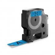Etichete autocolante plastifiate DYMO LabelManager D1 19mm x 7m negru albastru 45806 S0720860