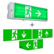 Elro Moderne rechthoekige wandlamp nooduitgang - Emergency