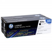 HP Toner CC 530 AD Twin Pack Svart No. 304 A