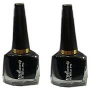 True Colors Black Nail Paint/Color (Set of 2)