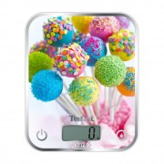 Кухненска везна, Tefal Optiss, 5kg, Resolution 1g function Tara, Digital LCD display, Delicious Cake Pops (BC5121V0)