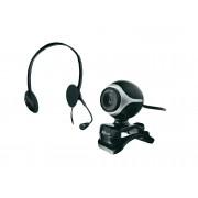 Trust Webcam + Auricular TRUST Exis Chatpack (Con Micrófono)