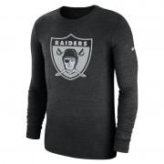 Nike (NFL Raiders) Tri-Blend-Langarm-T-Shirt für Herren - Schwarz