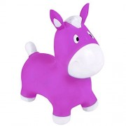 "Rhode Island Novelty Jumping Pony Horse Hopper 22"" Ride-on Bouncy Animal Hopper Sit and Bounce for Children Kids (Purple)"