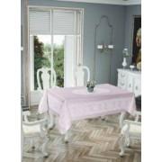 Fata de masa Valentini Bianco impermeabila dimensiune 150x220cm Model Pano Lace culoare Roz