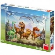 Puzzle Dinozaurul Arlo si prietenii 66 piese Dino Toys