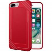 Para IPhone 8 Plus Y 7 Plus Y 6 Plus Lattice Textura Volver Funda Protectora TPU Antigolpes (rojo)