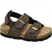 Bobbi-shoes Bruine sandaal leren voetbed Bobbi-Shoes maat 23