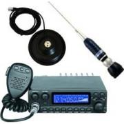 Pachet Statie radio CB Avanti Kappa PRO-version + Antena radio CB Sirio Turbo 2000 si baza magnetica 145 PL