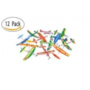 12 Pack 8 Inch Glider Planes - Birthday Party Favor Plane