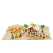 Sevi 1831 Wooden Toy - Christmas Decorations - Set Crib Complete - (code 82257)