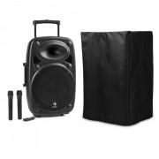 "Auna Streetstar 12 Equipo PA portátil con funda Subwoofer de 12"" Carrito BT USB (PL-31568-29466)"