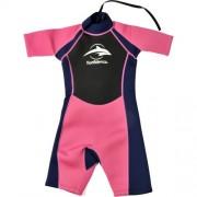 Costum inot din neopren pentru copii Shorty Wetsuit pink