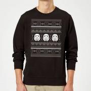 Star Wars Christmas Stormtrooper Knit Black Christmas Sweatshirt - XL - Black