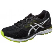 Asics Men's GT-2000 4 Black, Silver and Lime Running Shoes - 6 UK/India (40 EU)(7 US)