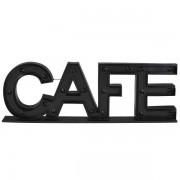 Maisons du monde Palabra decorativa luminosa de metal negro 145x45 cm CAFE