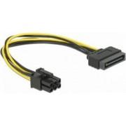 Cablu Delock SATA 15 pin la PCI Express 6 pin