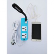 IZKI Travel Power Strip with One Micro USB Cable and USB Light