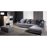 items-france KANSAS NOIR - Canape contemporain tissus noir 300x200