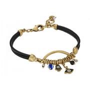 Marc Jacobs Hamsa Charm Leather Bracelet Gold