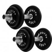 Činkový liatinový set MOVIT 2 x 10 kg
