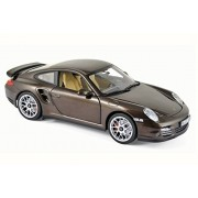 2010 Porsche 911 Turbo, Brown Metallic - Norev 187622 - 1/18 Scale Diecast Model Toy Car