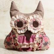 Perna handmade cu lavanda – bufnita bej