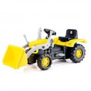 Excavator cu pedale, volan, claxon, 52 x 105 x 45 cm, maxim 35 kg