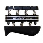 Digi-Flex hand/finger exercise system, kéz/ujj erősítő, fekete, erősség: 4,1 kg - 13,6 kg