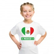 Bellatio Decorations I love Mexico t-shirt wit kinderen M (134-140) - Feestshirts