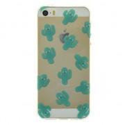 GadgetBay Coque transparente en TPU SE pour iPhone 5, 5s et SE de cactus