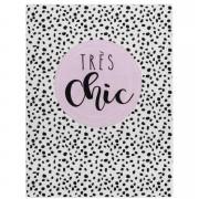 Tapis Mood Très Chic - wit/zwart - 95x125 cm - Leen Bakker